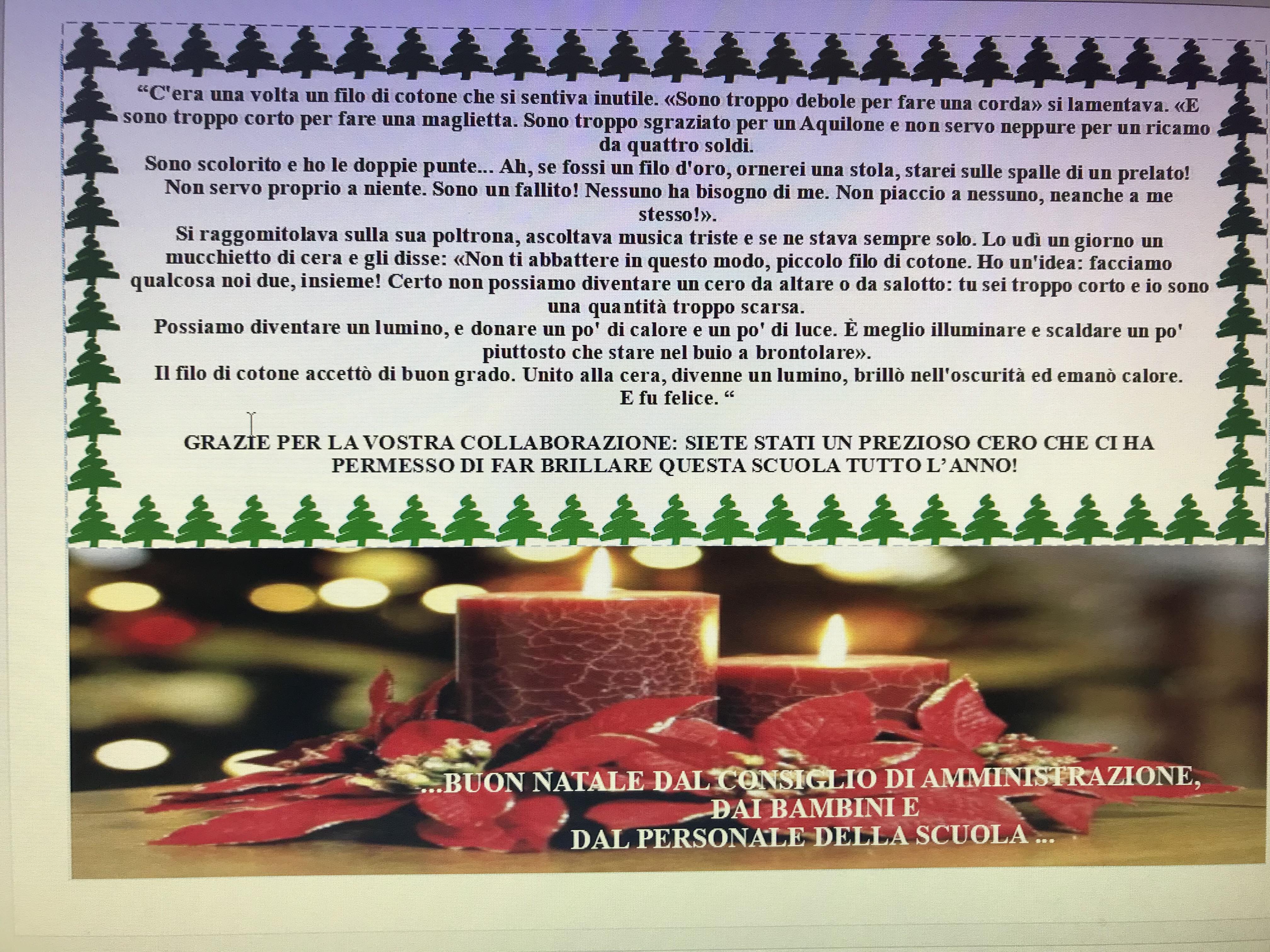 Auguri Di Buon Natale E Buon Anno.Auguri Di Buon Natale E Felice Anno Nuovo Scuola Dell Infanzia Di Anzano Del Parco